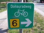 Señal indicando la ruta